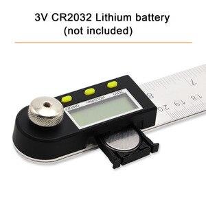 Image 5 - 200mm /300mm 스테인레스 스틸 디지털 미터 각도 경사계 각도 디지털 눈금자 전자 각도계 각도기 각도 파인더