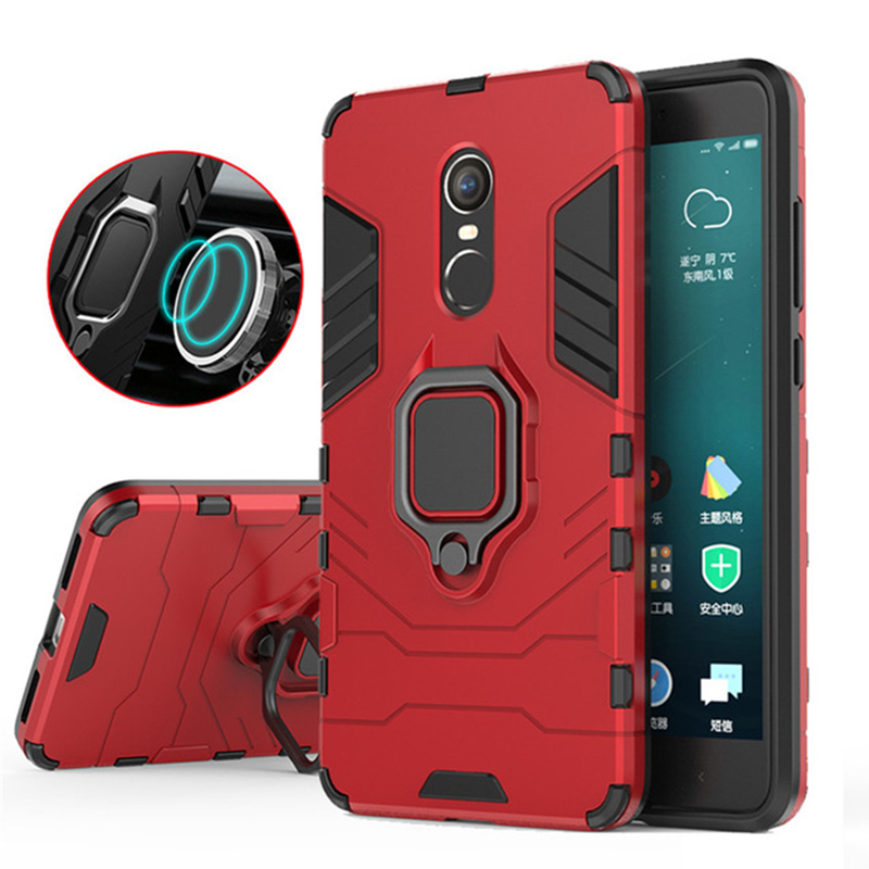 Magnetic Shockproof Armor Phone Case For Xiaomi Redmi Note 4X Luxury Car Ring Holder Stand Hard Back Cover For Red Mi note4x 4 x image