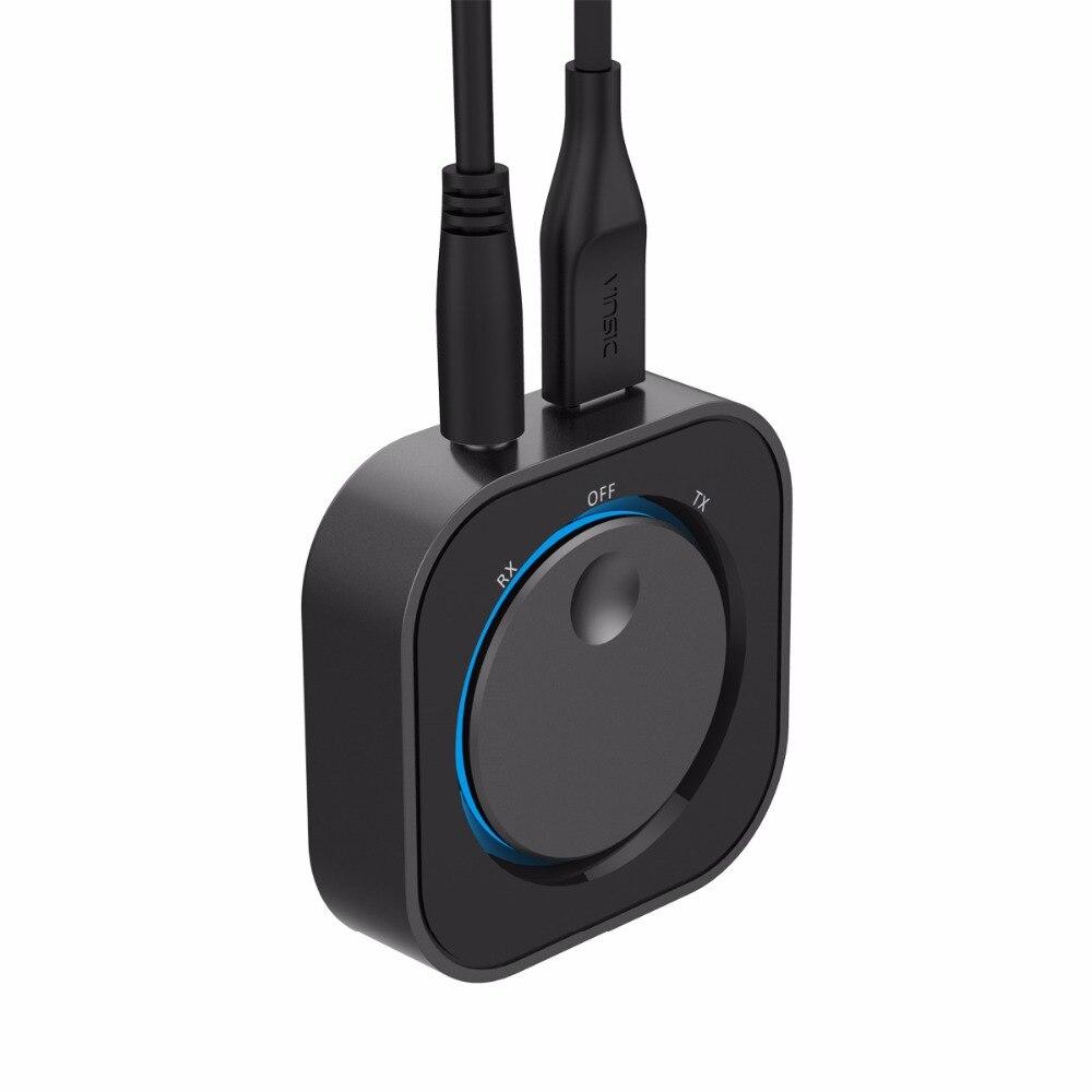 Doosl Беспроводной аудио приемник Bluetooth и передатчик Bluetooth адаптер с 3.5 мм аудио Вход и Выход для ТВ MP3 PC