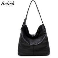 Bolish Europäischen und Amerikanischen Stil Pu-leder Top-griff Tasche Mode Größeren Umhängetasche Kurze Kapazität Frauen Einkaufstasche tasche
