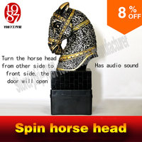 2016 New Spin The Decorative Horse To Open The Door Lock Interesting Horse Head Prop Rotate