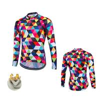 FASTCUTE Florr Winter Fleeced Ropa Ciclismo Bike Cycle Maillot Bicycle Wear MTB Cycling Clothing Racing Thermal