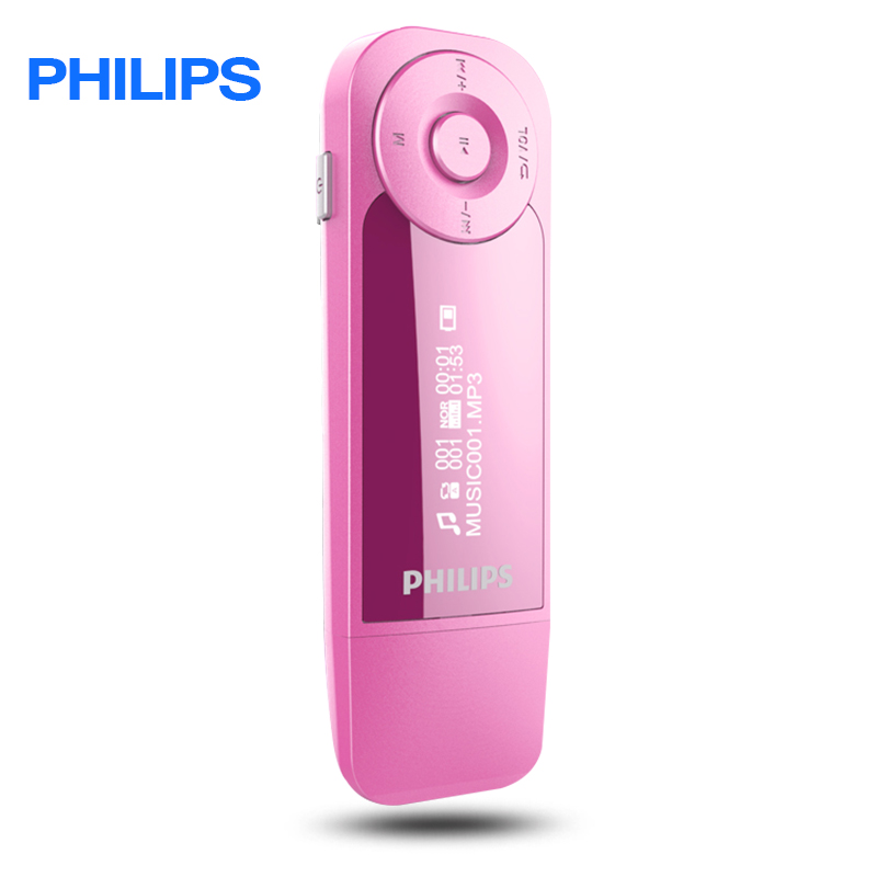 PHILIPS Downloading Sport 8GB Music Player With Screen Mini Clip Digital Mp3 Player with Radio FM USb MP3 APE music clip staff page clip with music pattern