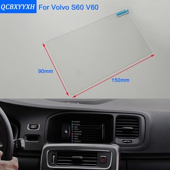 Car Styling 7 Inch GPS Navigation Screen Steel Glass Protective Film For Volvo V60 S60 Control of LCD Screen Car Sticker image