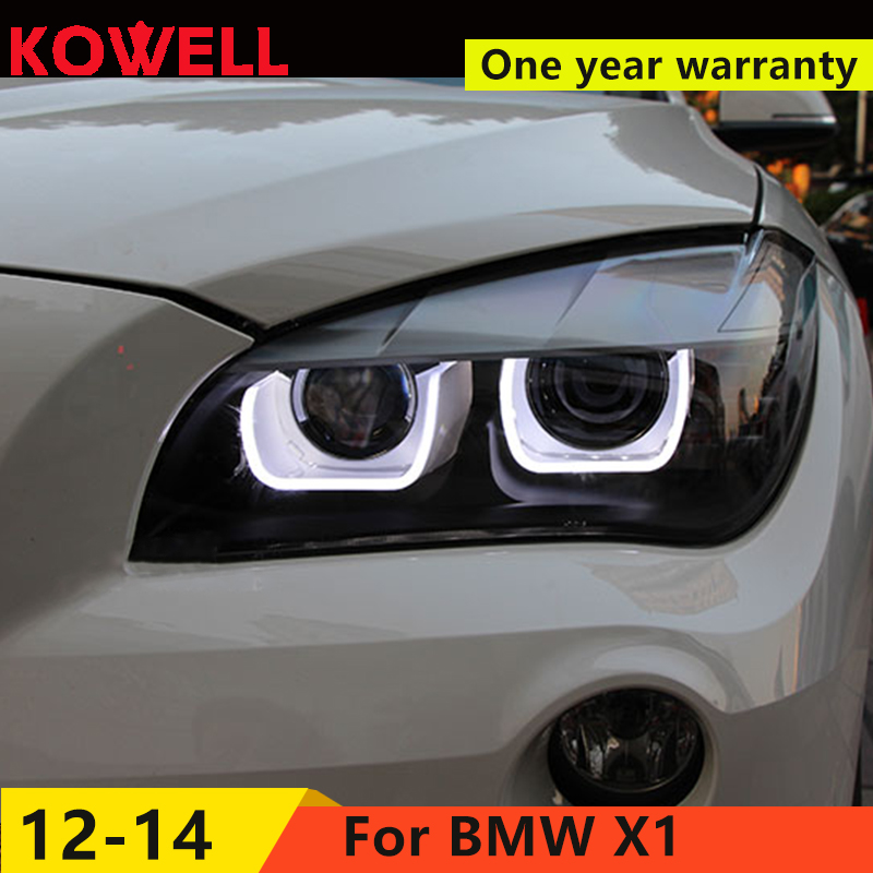 KOWELL Car Styling For BMW E84 Headlights X1 2011 2015 LED Headlight 120 125 angel eye