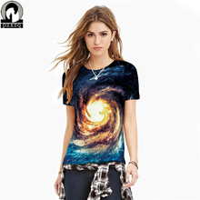2017 Summer Fashion 3D Starry print tee shirt women T shirt Summer harajuku T shirts plus