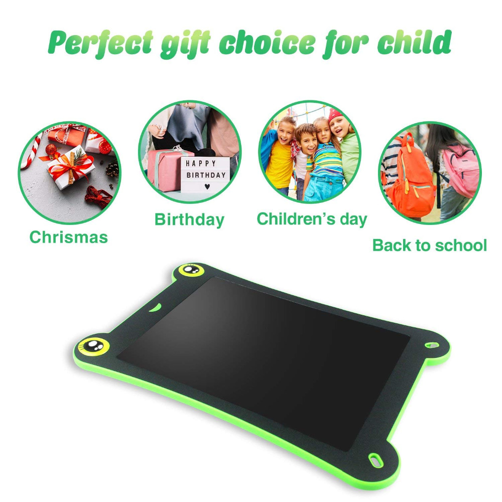 Frog LCD Writing Tablet Digital Drawing Tablet Handwriting Pads Electronic Tablet Board Board Gifts 8.5 Inch Portable Kids Drawing Board-4