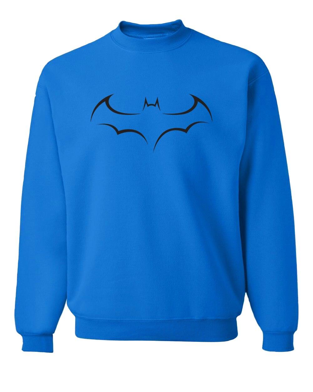 men hipster fleece o-neck tracksuits batman  printed black sweatshirts hip-hop bodybuilding hoodies homme 2019 fall winter