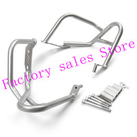 For BMW R1200R R 1200R 1200 R 2007 2014 silver Crash Protection Bars Engine Guard Protective Frame 2008 2009 2011 2010 2013