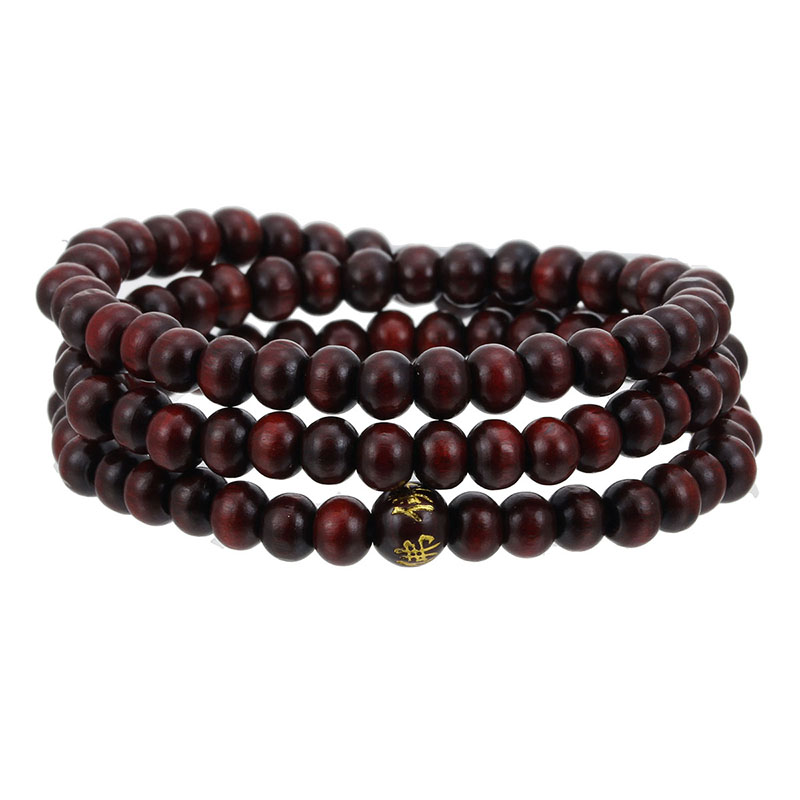 Image 5 - High Quality 6mm 8mm Natural Sandalwood 108 Wood Beads Buddha 