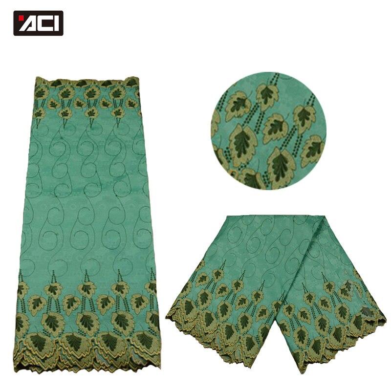 ACI African Jacquard Lace Fabric 5Yards/Bag Soft Embroidery Brocade Bazin Riche African Fabric Shadda Nigeria Garment For DressACI African Jacquard Lace Fabric 5Yards/Bag Soft Embroidery Brocade Bazin Riche African Fabric Shadda Nigeria Garment For Dress