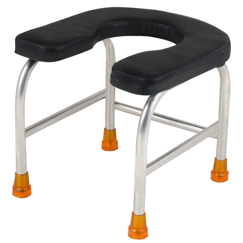 U-shaped Potty Stool Household Convenient Old People and Pregnant Woman Toilet Stool Stable Stainless Steel Non-slip StoolU-shaped Potty Stool Household Convenient Old People and Pregnant Woman Toilet Stool Stable Stainless Steel Non-slip Stool
