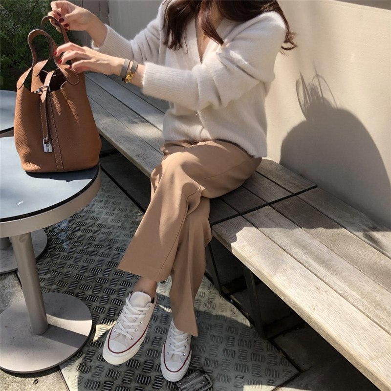 RUGOD Solid Elegant Women Cardigans Casual V-Neck Cashmere Knitted Women Sweaters Slim Autumn Winter Clothes jersey mujer 19 2