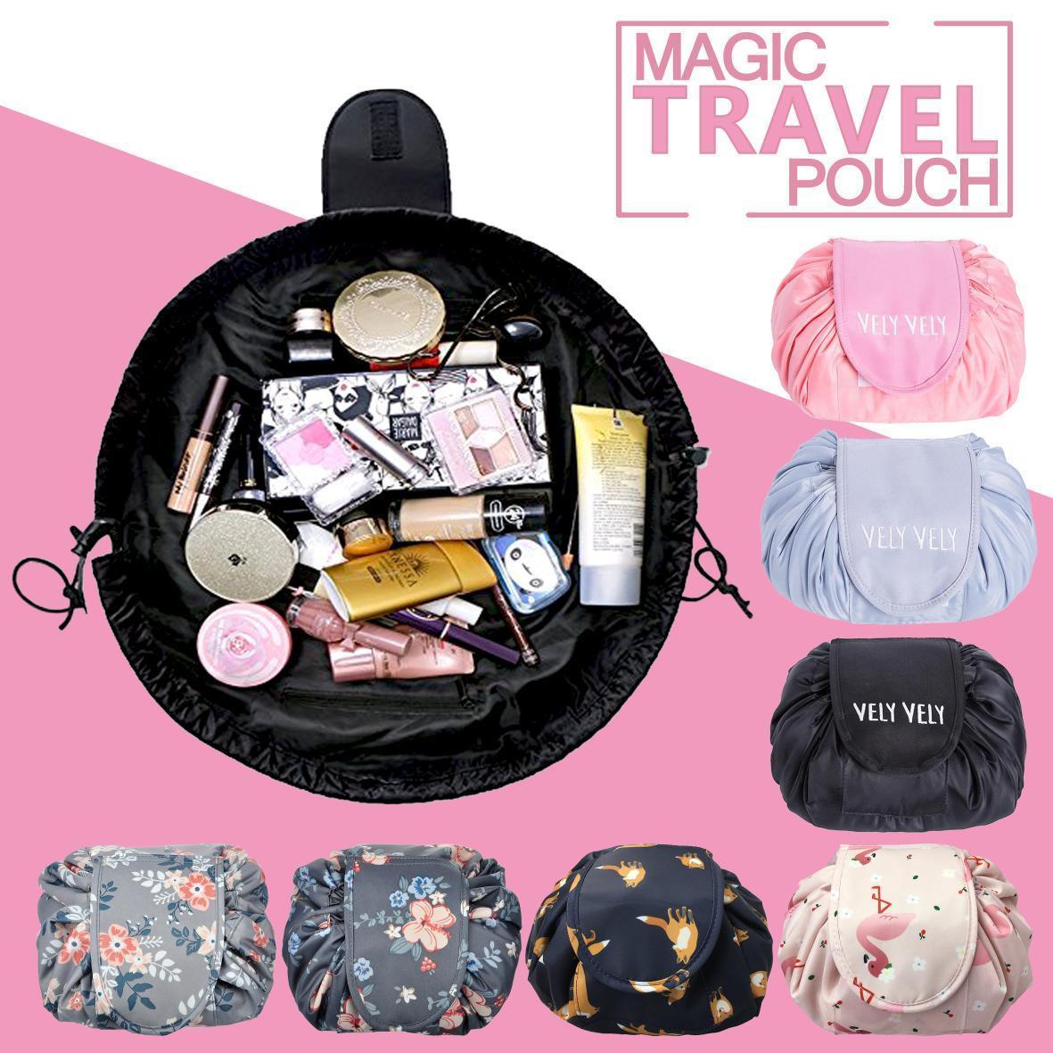 Fashion Portable Magic Travel Pouch Cosmetic Drawstring Bag Makeup Storage Bags