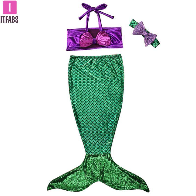 2019 Swimwear Kids Baby Girls Bikini Set Swim Suit Mermaid Tail Bikinis Swimsuit Swim Wear Bathing Costume