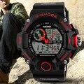 2015 Nuevo Diseño Para Hombre Al Aire Libre A Prueba de agua Digital de Retroiluminación LED de Alarma Deportes Cronómetro Reloj de Goma 5ETL