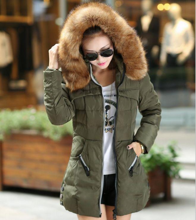 2017 Autumn & Winter Women Parka Outerwear Duck Down Jacket With Large Fur Collar Plus Size M - XXXL Thickening Long Coat цены онлайн