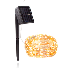 Solar Lamp 20M 200 Christmas LED Strings Home Garden Copper Wire Light String Fairy Outdoor Solar Powered Christmas Party Decor 2m 20 led solar solar led string light mason jar lid lamp xmas outdoor garden decor christmas holiday decoration lamp 1567