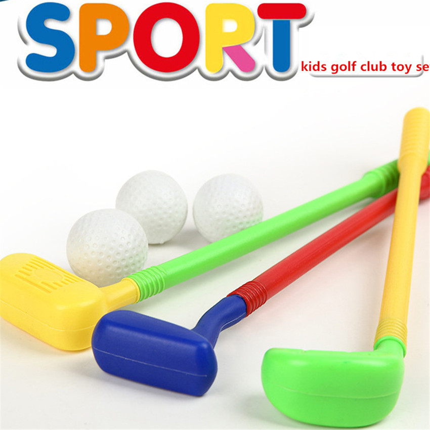 Children Kids Golf Club Toys 2 Golf Clubs + 2 Golf Ball Toy Mini Golf Game Sports For Baby Grasping Ability Developing