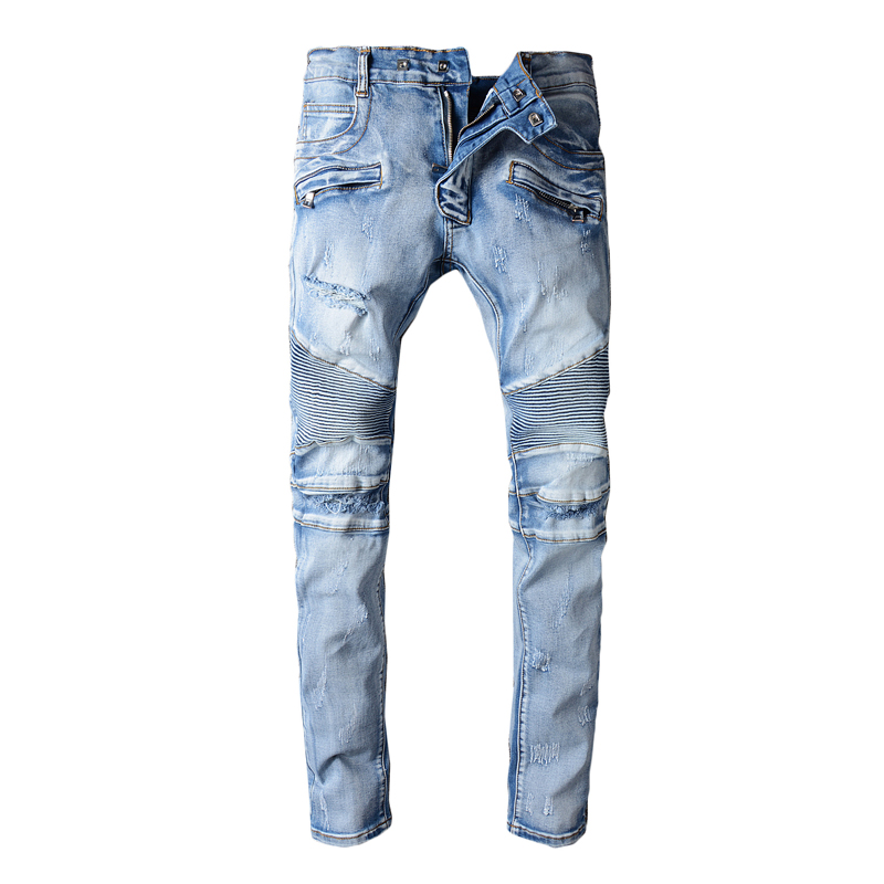 Famous Brand Fashion Designer Jeans Men Straight Blue Color Mens Jeans Ripped Jeans,Cotton pants 2016 new arrive famous brand clothing mens jeans homme fashion ripped jeans for men designer robin jeans gyms men s jean warm