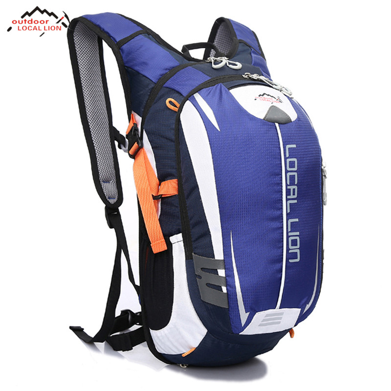 LOCAL LION Outdoor Bicycle Bags MTB Road Bike Backpacks Waterproof Sports Breathable Cycling Backpack Hiking Riding Bag 18L 18l outdoor professional cycling backpack riding rucksacks bicycle road bag bike knapsack sport camping hiking backpack