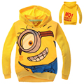 Children Minions Sweatshirt Cartoon Print Hoodies Boys Girls Kids Casual Olaf Pullover Tops Cotton Clothes for 2 4 6 8 10 Years