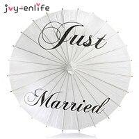 JOY-ENLIFE 3 Arten Nur Verheiratet/Mr & Mrs Weiß Papier Sonnenschirme Hochzeit Bilder DIY Hochzeit Papier Sonnenschirm Sonnenschirm Party liefert