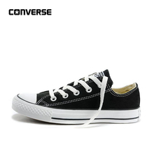 56981f5acad63 Converse All Star Men s and Women s Unisex Sneakers for Men Women  Skateboarding Canvas Shoes All Black