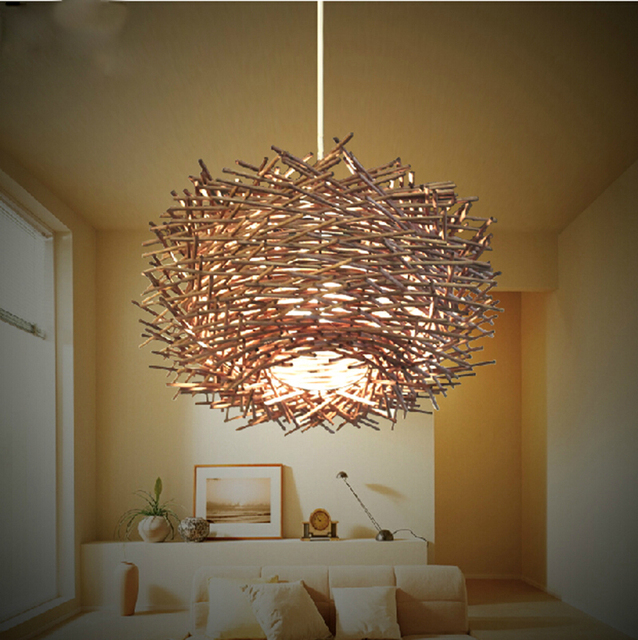 eco friendly lighting. Natural Eco-friendly Knitted Rattan Lamps Hedgehog Dining Room Pendant Light EMS Free Shipping Eco Friendly Lighting