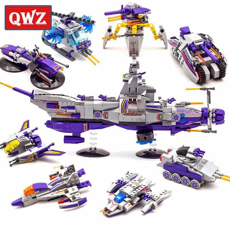 QWZ 8 in 1 Variante Spazio Guerra Deformazione Robot Forma Legoes Building Blocks Set Mattoni Modello Regalo Dei Capretti Giocattoli Classici