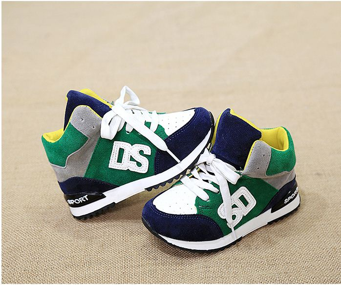 Children shoes 2017 autumn/winter boys sneaker shoes girls breathable casual shoes child sport single shoes plus cotton boots