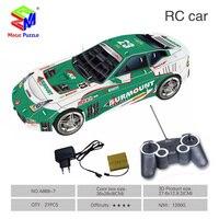 MagicShar 3D Puzzle DIY Paper RC Car Magic Puzzle Car Model Toys For Kids Cartoon Cars