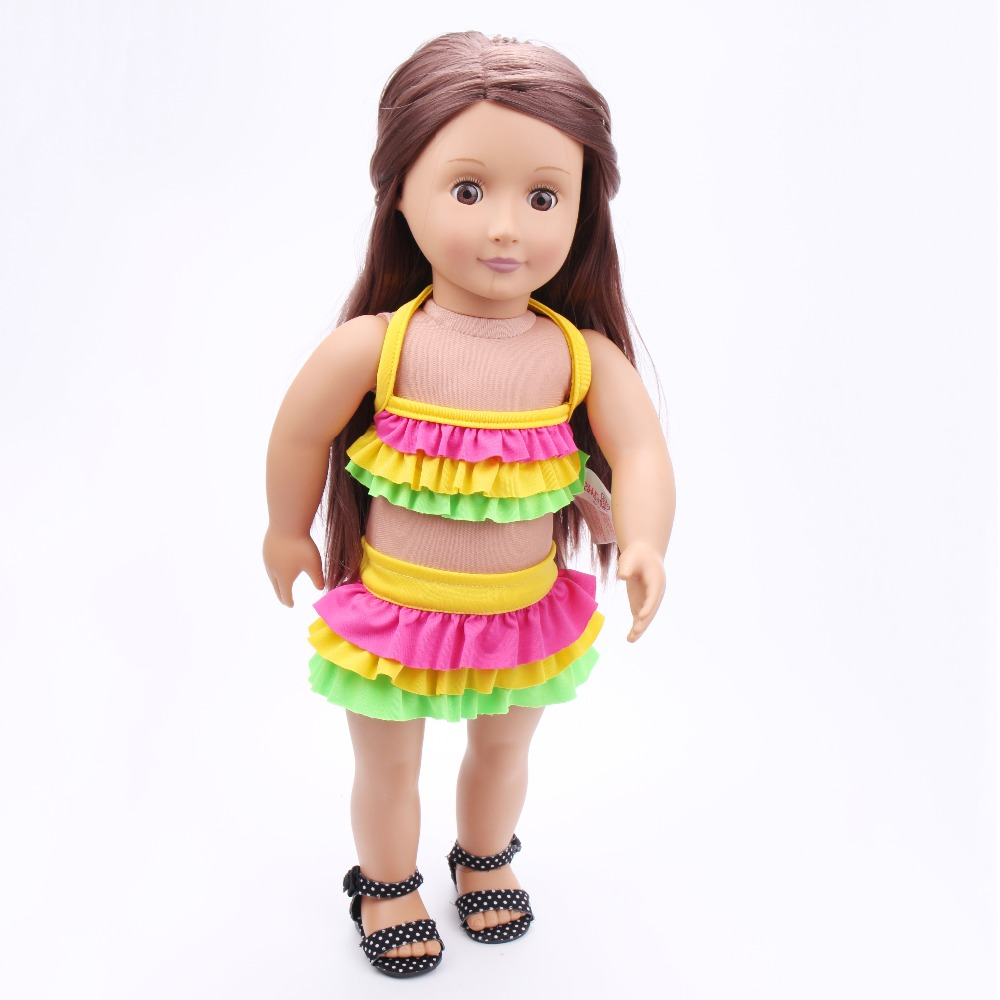"""Free shipping!!! hot 2017 new style Popular 18"""" American girl dolA bathing suit/dressChristmas gift Baby clothes TS-15"""