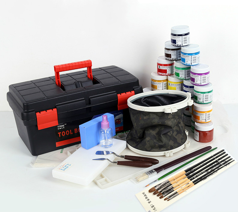 Art Toolbox, Watercolor Brush, Palette, Watercolor Pen, Gouache Marley Suit, Gouache Paper, Line Drawing Pen
