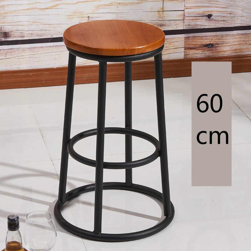 Твердое дерево американские барные стулья высокие стулья Кованое железо стул Ретро Бар Стул высокий стул льняная Подушка мобильный телефон магазин бар