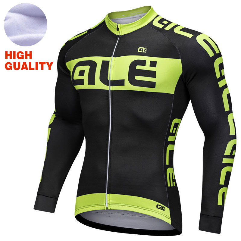 Pro Cycling Jersey 2018 Long Sleeve Men Winter Thermal Fleece Maillot Ciclismo Hombre Road Bike MTB Top Jersey Cycling Clothing цена