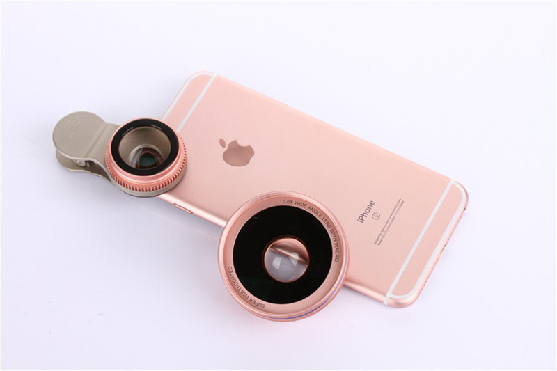Cell Phone Lenses 0.45X/0.6X Super Wide Angle 12.5x Macro Lens For iPhone 6 Plus 7 5S xiaomi 5 Samsung S7 Edge Camera lens Kit 10