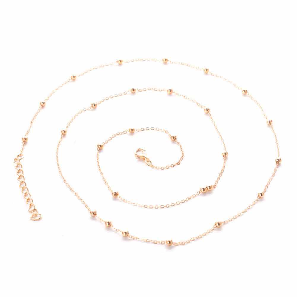 2018 Dropshipping Sexy Simple Golden/silver Color Waist Chain Round Bead Charm Night Club Party Body Chain Statement Jewelry