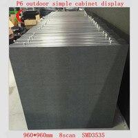 960*960 мм P6 SMD3535 просто шкаф СВЕТОДИОДНЫЙ экран использовать для открытый высокий ясный видеостена