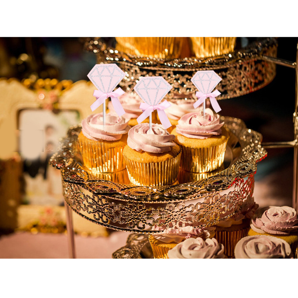Top 10 Wedding Cake Suppliers In Melbourne: Aliexpress.com : Buy 10pcs Cupcake Toppers Pink Lovely