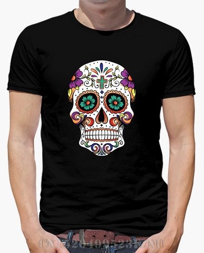 2018 Summer Favourite mens t shirt Mexican calavera 2 boy short O neck Fashion Cotton Six colors
