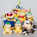 7pcs/lot High quality Super Mario Koopalings Plush Toys Wendy / LARRY / IGGY /Ludwig /Roy / Morton /Lemmy O Plush Toys
