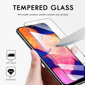Image 2 - 3Pcs Tempered Glass For Samsung Galaxy A20 A30 A40 A70 A50 A20E Screen Protector 9H 2.5D Glass on Samsung J4 J6 Plus A7 A9 2018