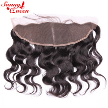 Sunny Queen Remy 13X4″ Brazilian Lace Front Closures Body Wave 10″-20″ Nature Color Human Hair Closure
