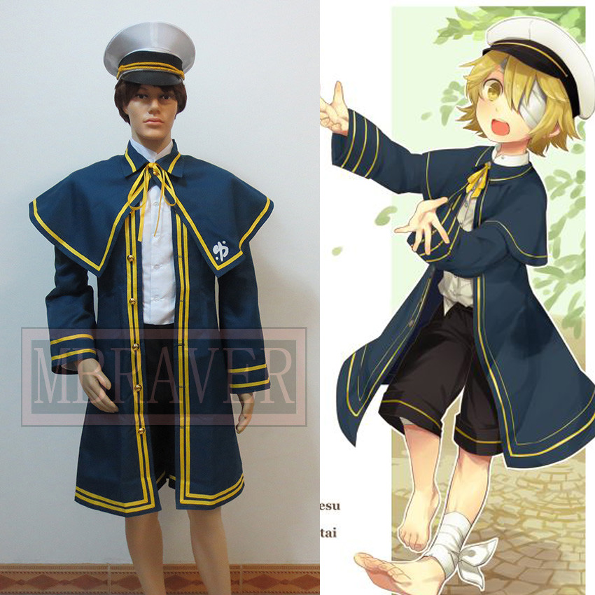 Free Shipping Hot Vocaloid Oliver Cosplay Costume Halloween Costumes