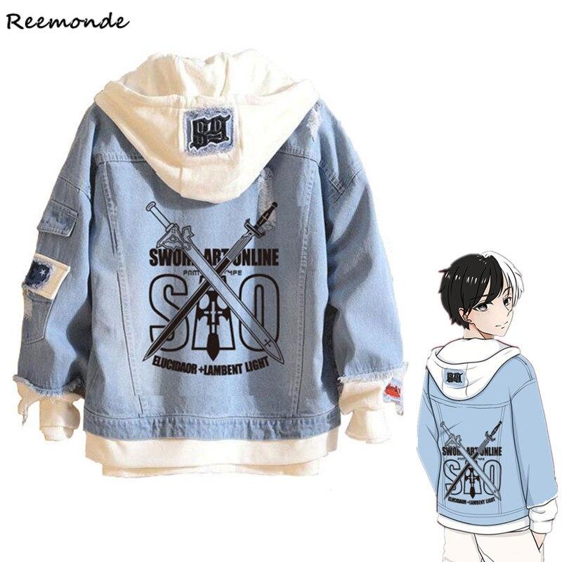 Anime Boku No My Hero Academia Shoto Todoroki Cosplay Costumes Hokage Blue Denim Jacket Hoodie For Men Girls Boys Spring Coat