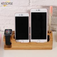 Kisscaseシックな木製充電ドックステーション携帯電話クレードルホル