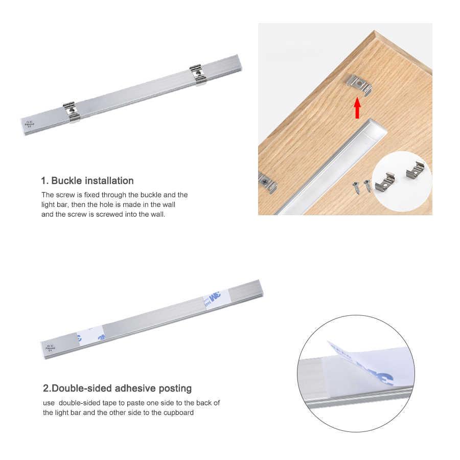 Ручной развертки сенсор светодиодный бар свет 12 В алюминиевый профиль светодиодный трубчатый шкаф кухонный светильник ручной волны движения Ночной светильник с датчиком