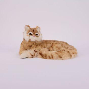 Simulation cat polyethylene&furs cat model funny gift about 25cmx20cmx11cm