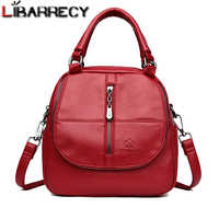 Famous Brand Women's Backpack Small School Bag for Girls Casual backpack female High Quality Leather Shoulder Bag For Women 2018